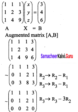Samacheer Kalvi 12th Business Maths Solutions Chapter 1 Applications of Matrices and Determinants Ex 1.1 Q5
