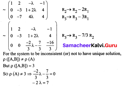 Samacheer Kalvi 12th Business Maths Solutions Chapter 1 Applications of Matrices and Determinants Ex 1.1 Q6.1
