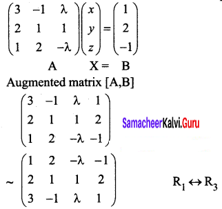 Samacheer Kalvi 12th Business Maths Solutions Chapter 1 Applications of Matrices and Determinants Ex 1.1 Q6