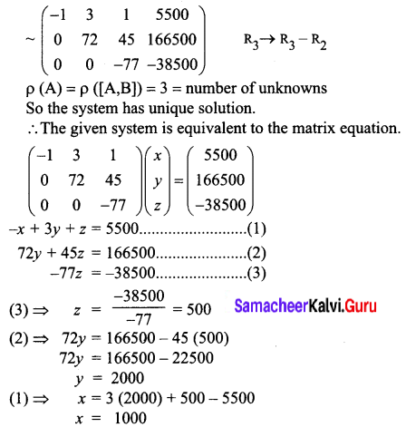 Samacheer Kalvi 12th Business Maths Solutions Chapter 1 Applications of Matrices and Determinants Ex 1.1 Q7.2