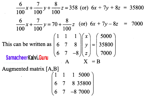 Samacheer Kalvi 12th Business Maths Solutions Chapter 1 Applications of Matrices and Determinants Ex 1.1 Q8