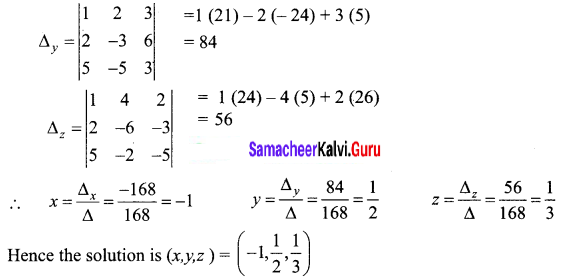 Samacheer Kalvi 12th Business Maths Solutions Chapter 1 Applications of Matrices and Determinants Ex 1.2 6
