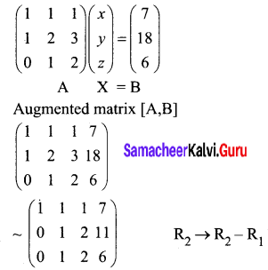 Samacheer Kalvi 12th Business Maths Solutions Chapter 1 Applications of Matrices and Determinants Miscellaneous Problems 1
