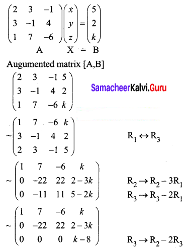 Samacheer Kalvi 12th Business Maths Solutions Chapter 1 Applications of Matrices and Determinants Miscellaneous Problems 3