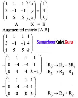 Samacheer Kalvi 12th Business Maths Solutions Chapter 1 Applications of Matrices and Determinants Miscellaneous Problems 4