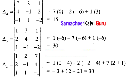 Samacheer Kalvi 12th Business Maths Solutions Chapter 1 Applications of Matrices and Determinants Miscellaneous Problems 5