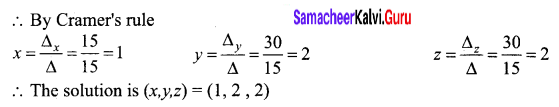 Samacheer Kalvi 12th Business Maths Solutions Chapter 1 Applications of Matrices and Determinants Miscellaneous Problems 6