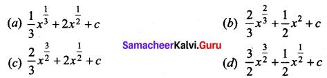 Samacheer Kalvi 12th Business Maths Solutions Chapter 2 Integral Calculus I Additional Problems 1