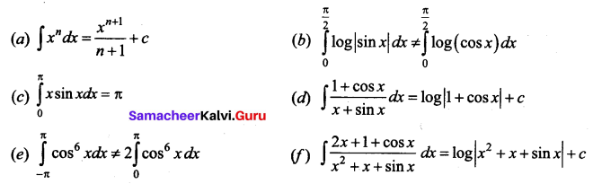 Samacheer Kalvi 12th Business Maths Solutions Chapter 2 Integral Calculus I Additional Problems 10