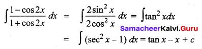 Samacheer Kalvi 12th Business Maths Solutions Chapter 2 Integral Calculus I Additional Problems 12
