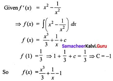 Samacheer Kalvi 12th Business Maths Solutions Chapter 2 Integral Calculus I Additional Problems 17