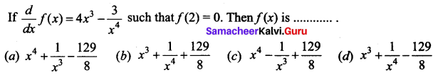 Samacheer Kalvi 12th Business Maths Solutions Chapter 2 Integral Calculus I Additional Problems 2