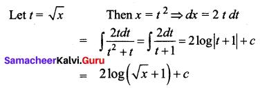 Samacheer Kalvi 12th Business Maths Solutions Chapter 2 Integral Calculus I Additional Problems 23