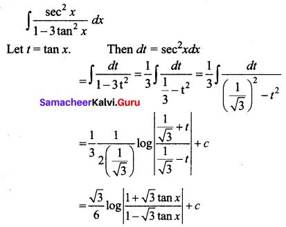 Samacheer Kalvi 12th Business Maths Solutions Chapter 2 Integral Calculus I Additional Problems 27
