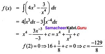Samacheer Kalvi 12th Business Maths Solutions Chapter 2 Integral Calculus I Additional Problems 3