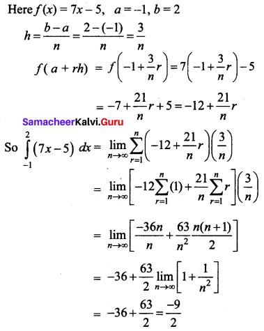 Samacheer Kalvi 12th Business Maths Solutions Chapter 2 Integral Calculus I Additional Problems 30