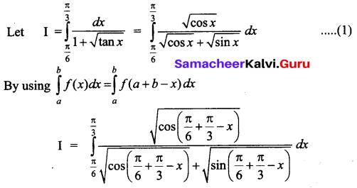 Samacheer Kalvi 12th Business Maths Solutions Chapter 2 Integral Calculus I Additional Problems 34