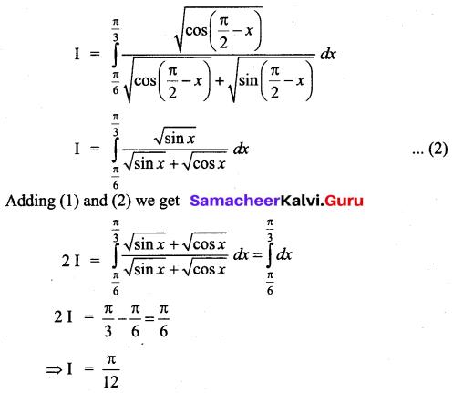 Samacheer Kalvi 12th Business Maths Solutions Chapter 2 Integral Calculus I Additional Problems 35
