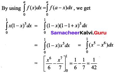 Samacheer Kalvi 12th Business Maths Solutions Chapter 2 Integral Calculus I Additional Problems 36