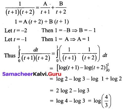 Samacheer Kalvi 12th Business Maths Solutions Chapter 2 Integral Calculus I Additional Problems 43