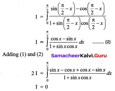 Samacheer Kalvi 12th Business Maths Solutions Chapter 2 Integral Calculus I Additional Problems 45