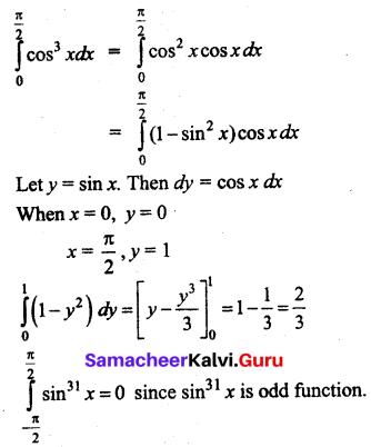 Samacheer Kalvi 12th Business Maths Solutions Chapter 2 Integral Calculus I Additional Problems 7