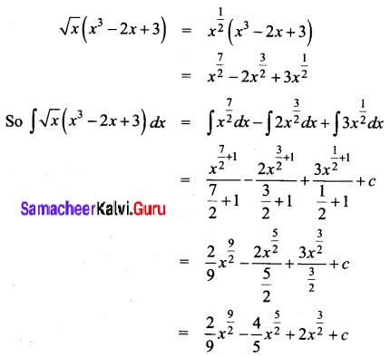 Samacheer Kalvi 12th Business Maths Solutions Chapter 2 Integral Calculus I Ex 2.1 Q4
