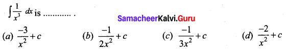Samacheer Kalvi 12th Business Maths Solutions Chapter 2 Integral Calculus I Ex 2.12 Q1