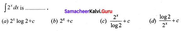 Samacheer Kalvi 12th Business Maths Solutions Chapter 2 Integral Calculus I Ex 2.12 Q2