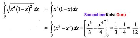 Samacheer Kalvi 12th Business Maths Solutions Chapter 2 Integral Calculus I Ex 2.12 Q20.1