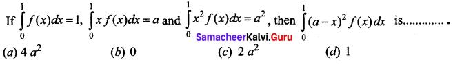 Samacheer Kalvi 12th Business Maths Solutions Chapter 2 Integral Calculus I Ex 2.12 Q21