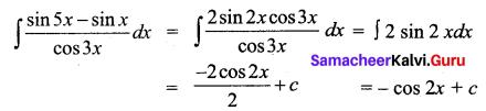 Samacheer Kalvi 12th Business Maths Solutions Chapter 2 Integral Calculus I Ex 2.12 Q4