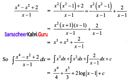 Samacheer Kalvi 12th Business Maths Solutions Chapter 2 Integral Calculus I Ex 2.2 Q2