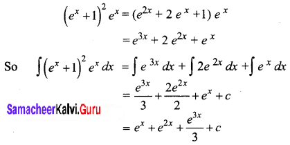 Samacheer Kalvi 12th Business Maths Solutions Chapter 2 Integral Calculus I Ex 2.3 Q3
