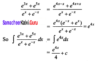 Samacheer Kalvi 12th Business Maths Solutions Chapter 2 Integral Calculus I Ex 2.3 Q5