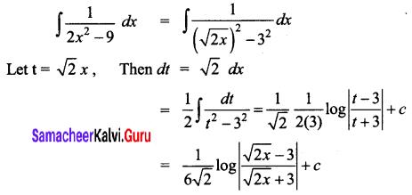 Samacheer Kalvi 12th Business Maths Solutions Chapter 2 Integral Calculus I Ex 2.7 Q3