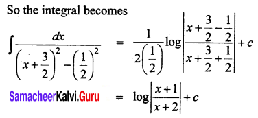 Samacheer Kalvi 12th Business Maths Solutions Chapter 2 Integral Calculus I Ex 2.7 Q5.1