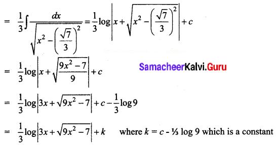 Samacheer Kalvi 12th Business Maths Solutions Chapter 2 Integral Calculus I Ex 2.7 Q8.1