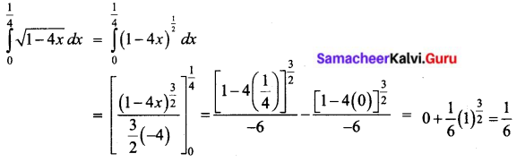 Samacheer Kalvi 12th Business Maths Solutions Chapter 2 Integral Calculus I Ex 2.8 I Q2