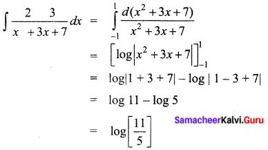 Samacheer Kalvi 12th Business Maths Solutions Chapter 2 Integral Calculus I Ex 2.8 I Q7