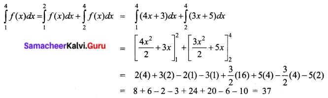 Samacheer Kalvi 12th Business Maths Solutions Chapter 2 Integral Calculus I Ex 2.8 II Q1.1