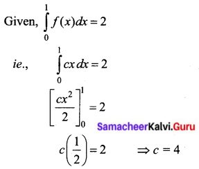 Samacheer Kalvi 12th Business Maths Solutions Chapter 2 Integral Calculus I Ex 2.8 II Q4.1