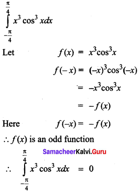 Samacheer Kalvi 12th Business Maths Solutions Chapter 2 Integral Calculus I Ex 2.9 Q1