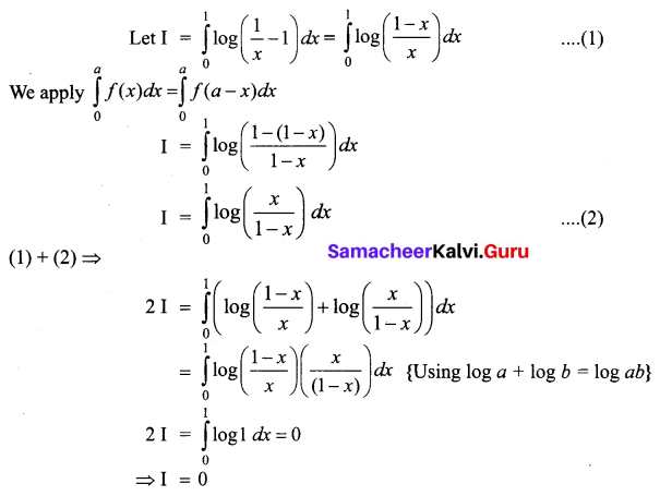Samacheer Kalvi 12th Business Maths Solutions Chapter 2 Integral Calculus I Ex 2.9 Q5