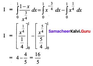 Samacheer Kalvi 12th Business Maths Solutions Chapter 2 Integral Calculus I Ex 2.9 Q6.1