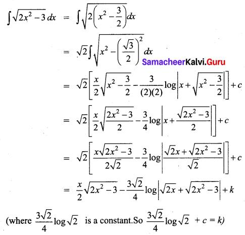 Samacheer Kalvi 12th Business Maths Solutions Chapter 2 Integral Calculus I Miscellaneous Problems Q4