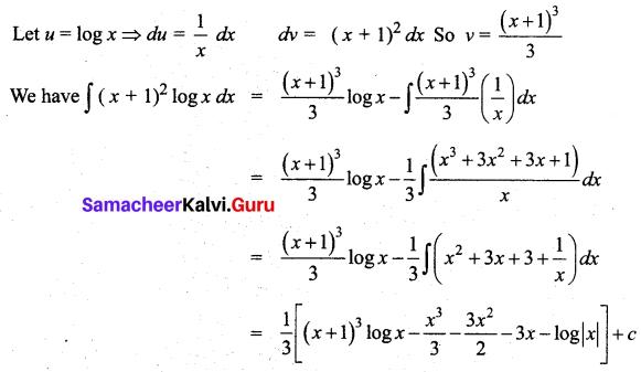 Samacheer Kalvi 12th Business Maths Solutions Chapter 2 Integral Calculus I Miscellaneous Problems Q6