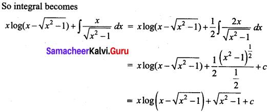Samacheer Kalvi 12th Business Maths Solutions Chapter 2 Integral Calculus I Miscellaneous Problems Q7.1