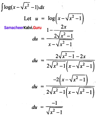 Samacheer Kalvi 12th Business Maths Solutions Chapter 2 Integral Calculus I Miscellaneous Problems Q7