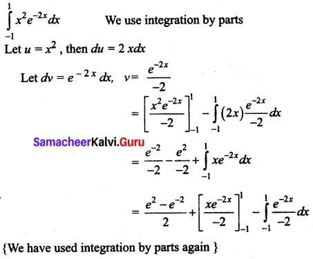 Samacheer Kalvi 12th Business Maths Solutions Chapter 2 Integral Calculus I Miscellaneous Problems Q9